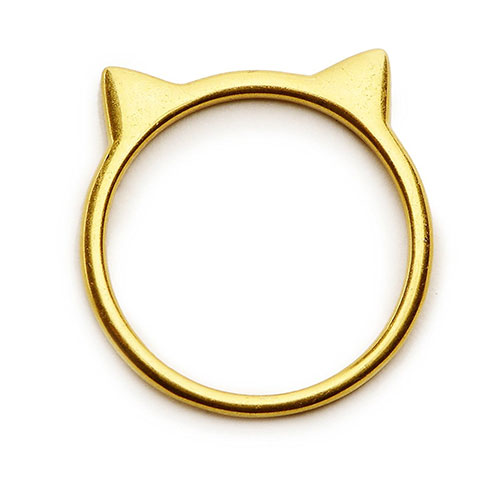 Cat Ear Ring in Sterling Silver by Silver Phantom Jewelry