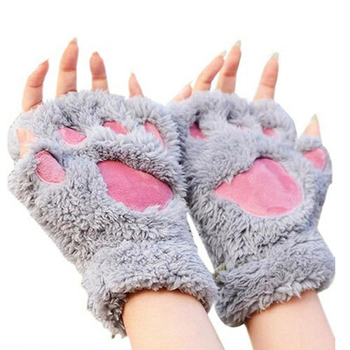 Cat Paw Claw Glove Soft Winter Gloves