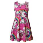 Girl's Unicorn Spring Summer Sleeveless Dress