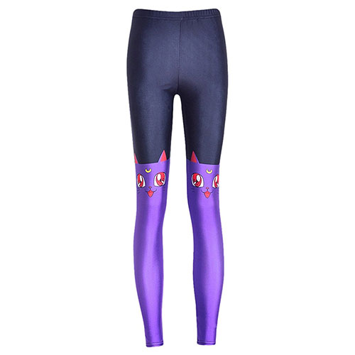 Pink Wind Women 3D Digital Printed Leggings Tights Stretch Pants Luna