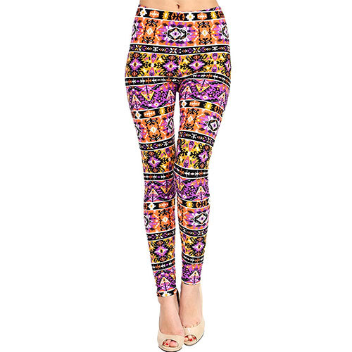VIV Collection Best Selling Printed Brushed Leggings Regular Size (XS-L) Zapper