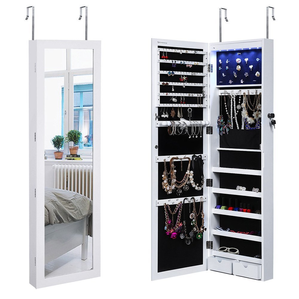 Door Mounted Jewelry Armoire