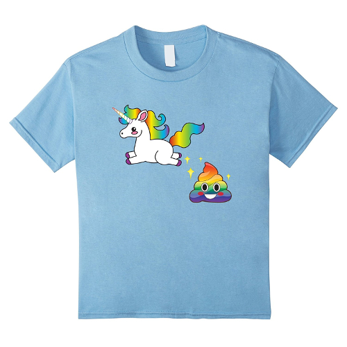 Funny Unicorn and Rainbow Poo Emoji Tshirt