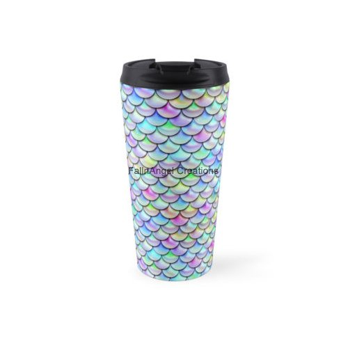 Rainbow Mermaid Scales Coffee Travel Mug