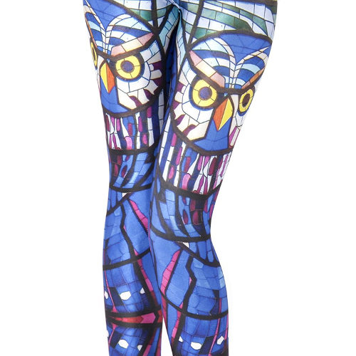 Stained Glass Owl Leggings