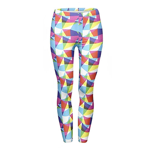 JINKAIJIA Women's Pilates Yoga 3D Printed Leggings RGB