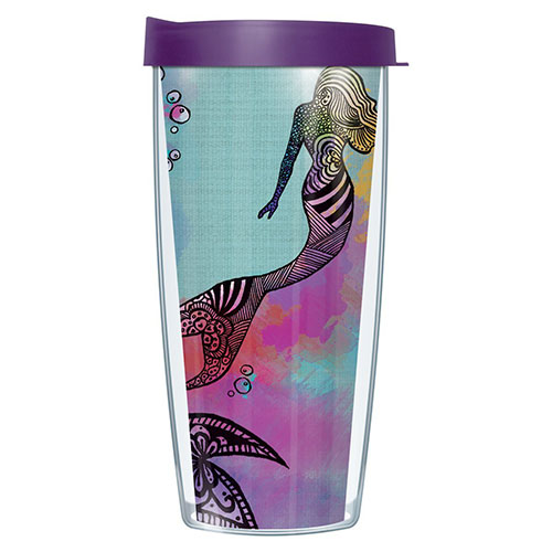 Mermaid Wrap Traveler 16-Oz Tumbler Mug with Lid