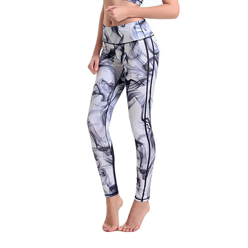 Woxlica Women's Printed Athletic Yoga Legging Pants 04-Legging