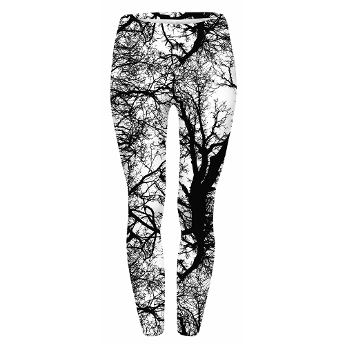 Black and White Tree Leggings