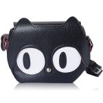 Black Leather Kitty Handbag