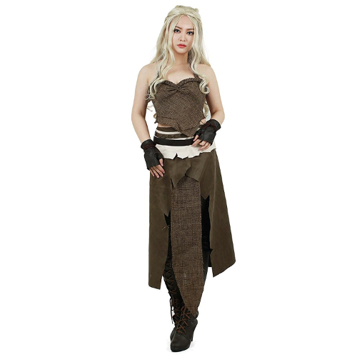 Brown Daenerys Targaryen Cosplay Costume