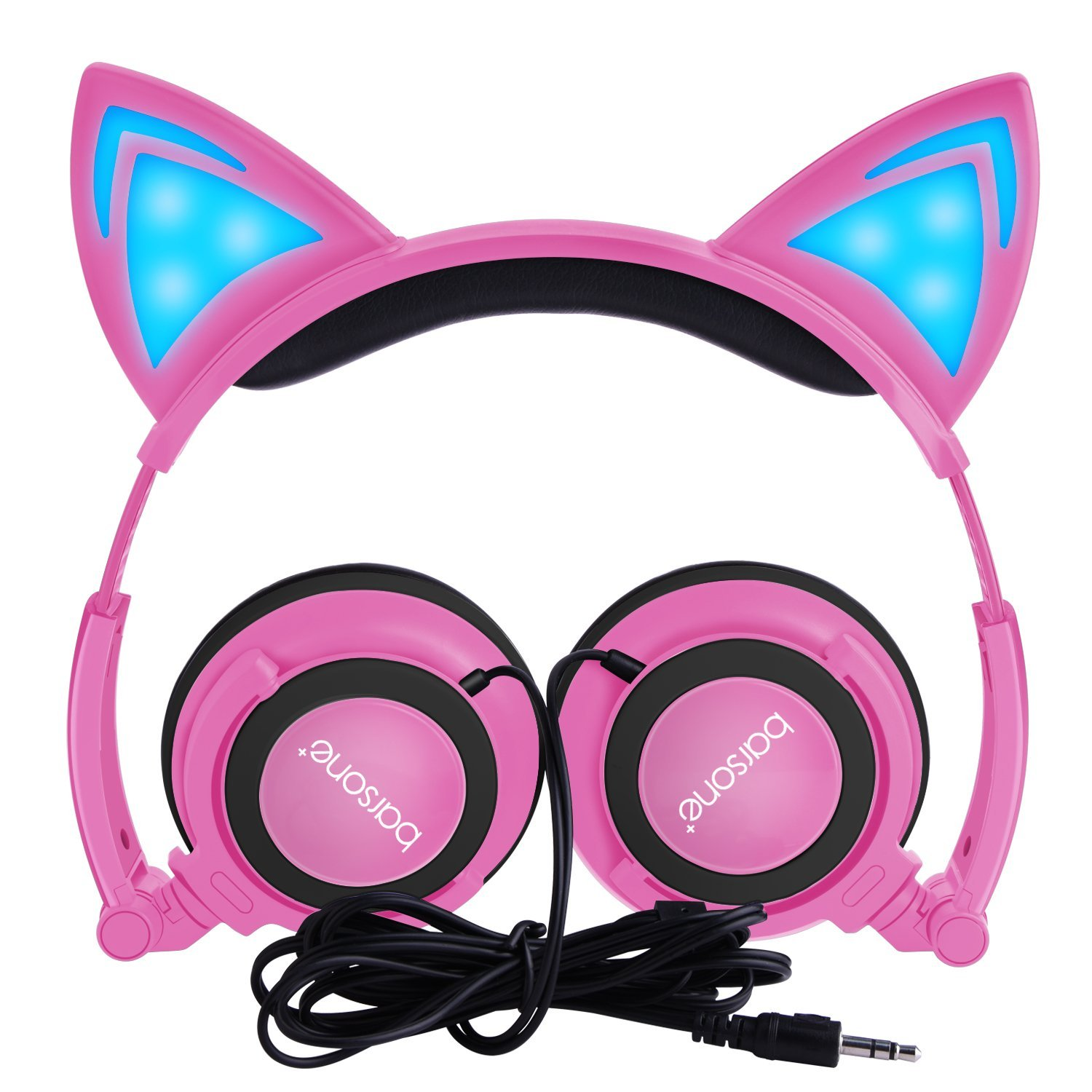 Glow Light Kitty Headphones