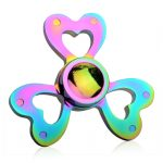 Iridescent Heart Shaped Fidget Spinner