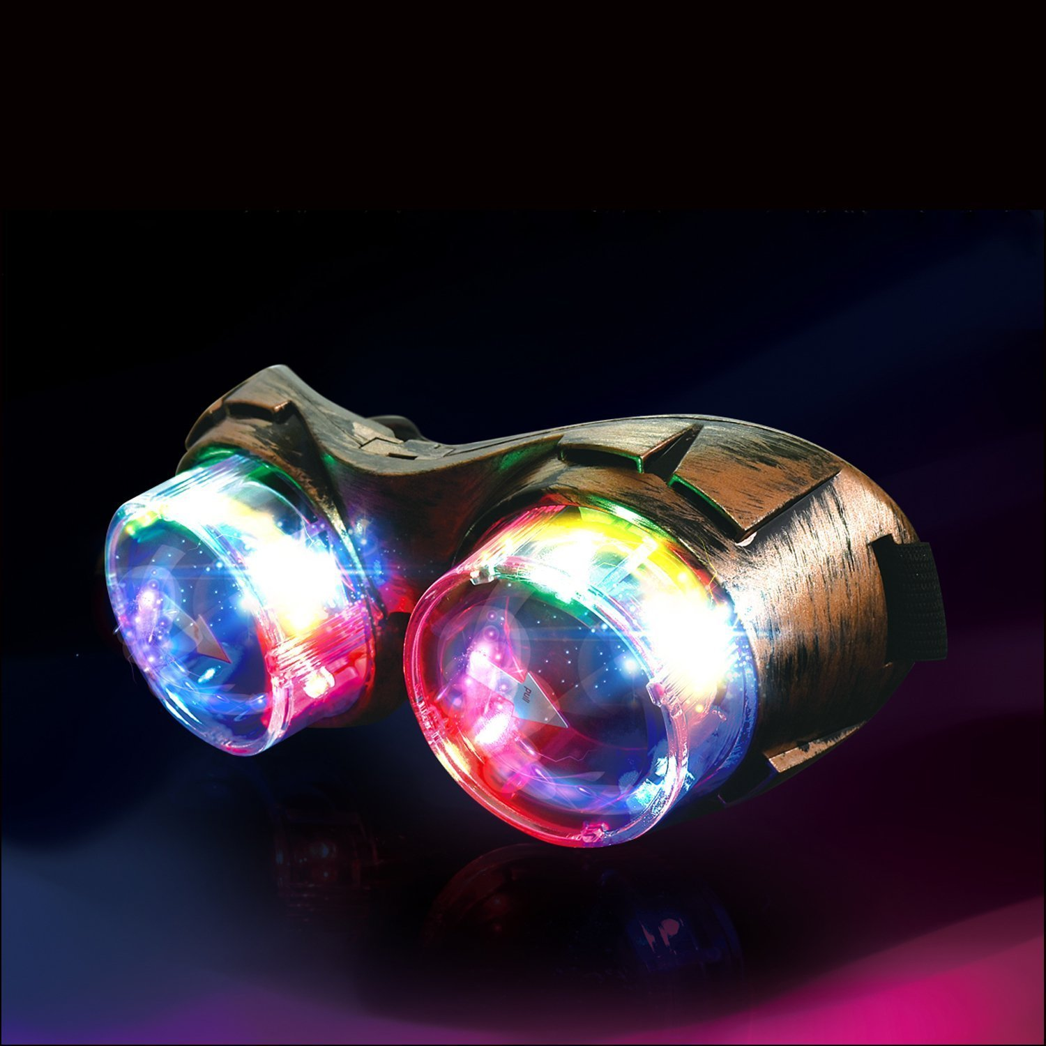 LED Light Up Steampunk Goggles