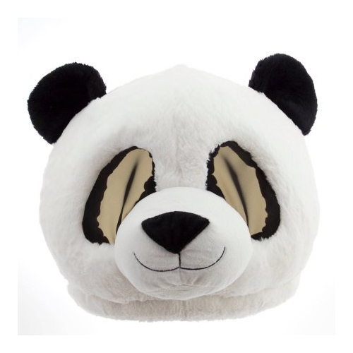 Oversized Plush Panda Head Mask