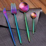 Rainbow Iridescent Stainless Steel Flatware