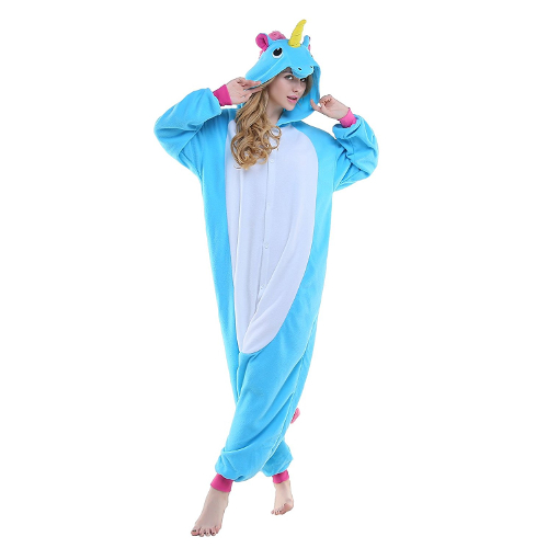 Blue Unicorn Onsie Pajamas