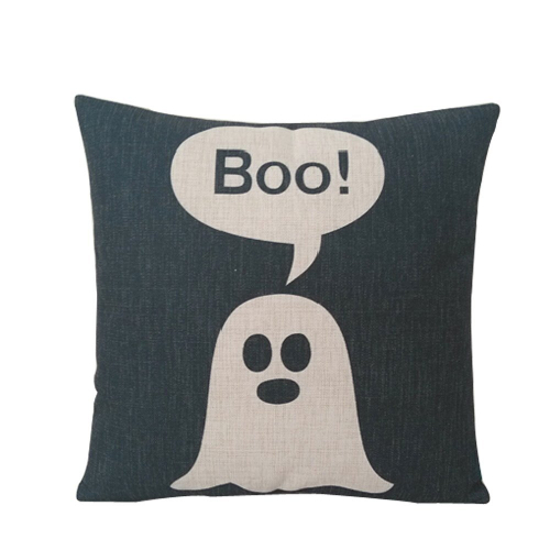 Linen Ghost Halloween Pillow Cover
