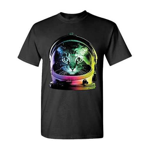 Neon Astronaut Kitty T Shirt