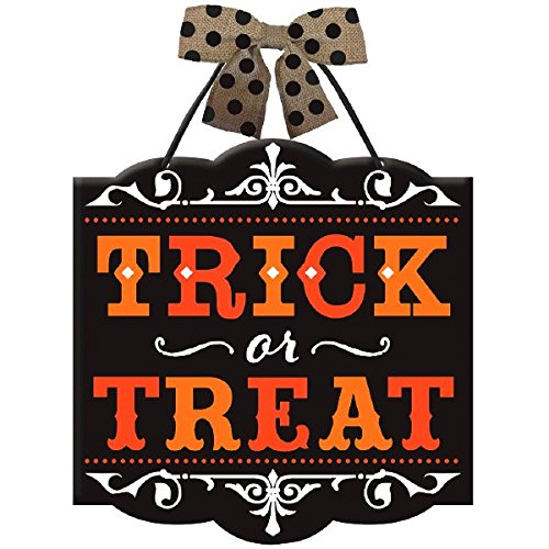 Trick or Treat Hanging Door Sign